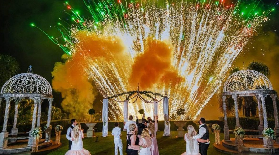 Brisbane Wedding Venue with Fireworks
